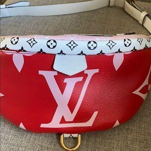 Louis Vuitton Monogram Giant Red/Pink bumbag